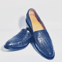 Alligator Blue Loafers   #180195