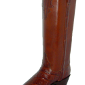 Alligator and Flat Leather Boot