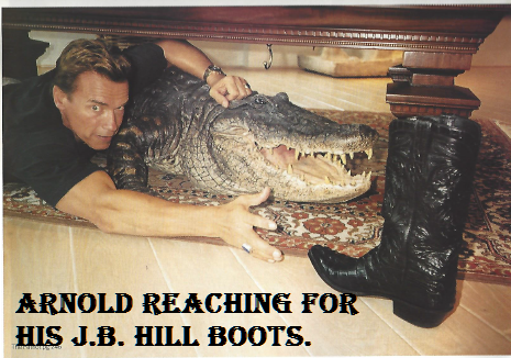 Arnold reaching for his J.B. Hill's