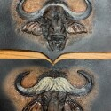 Cape Buffalo Tooled