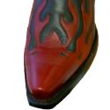 Flame toe cap