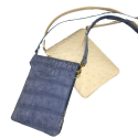 Sueded Gator  & Ostrich Cross Body